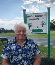 The City of Vineland named the track at the Romano Recreation Complex, just off Maple Avenue, in honor of former Recreation Commissioner Ernie Marcacci Jr. July 25, 2019