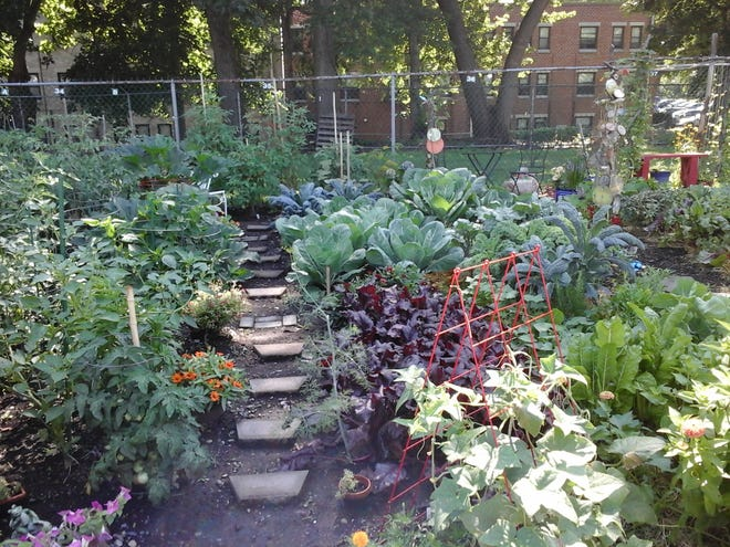 Elvin and Yodit De La Cruz won first prize for the Best Maintained Garden at Nyack Community Garden.