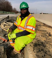Dupree Burroughs was shot while working on a gas main for Delmarva Power in Wilmington.