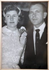 Truman Davis and his bride, Anna Lee Davis on their wedding day. The couple was married for 63 years when Mr. Davis died Tuesday, July 23rd.