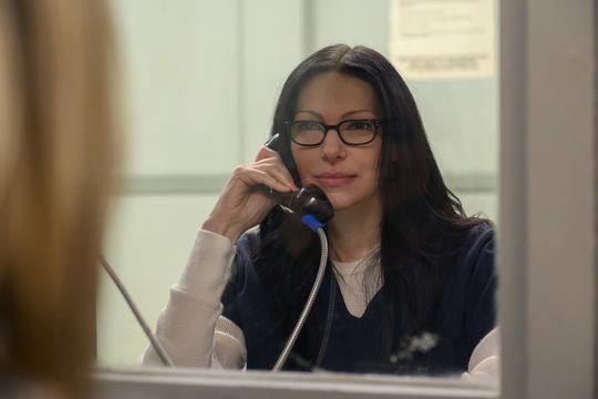 Alex (Laura Prepon) struggles to maintain her relationship with new wife Piper, who has been released from prison.