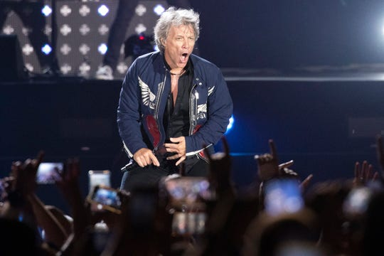 Jon Bon Jovi performs in Tel Aviv, Israel,  July 25, 2019.