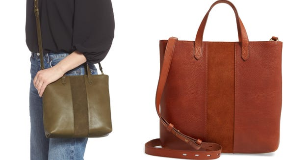 This Madewell tote is made from genuine leather, so it's made to last.