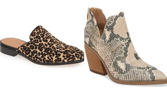 The animal print trend has transitioned down to the feet.