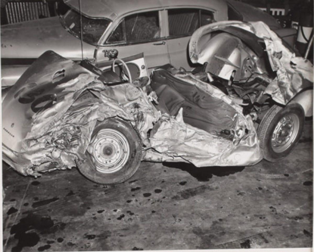 James Dean car crash: Rare photos to go up for auction next