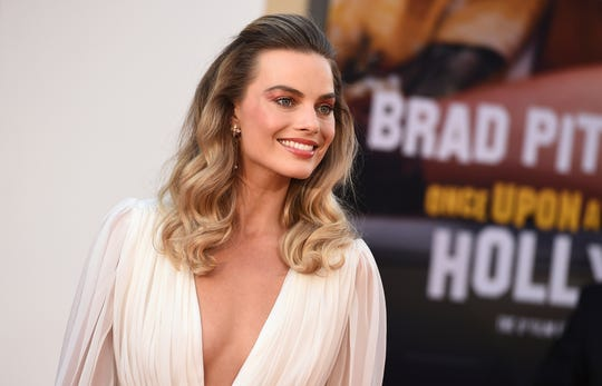 "Margot Robbie at the Los Angeles premiere of ""Once Upon a Time in Hollywood."""