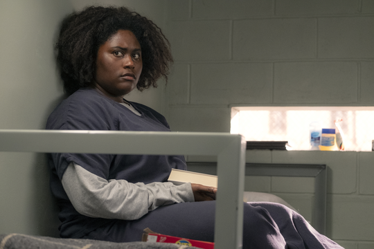 "Taystee (Danielle Brooks) faces life behind bars in the final season of ""Orange is the New Black."""