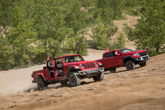 2020 Jeep Gladiator Gladiator Rubicon and 2019 Chevrolet Colorado ZR2 Bison