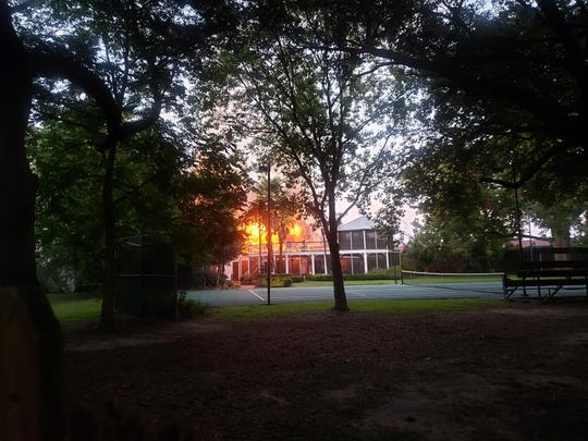 Frogmore Plantation main house was burned Friday night.