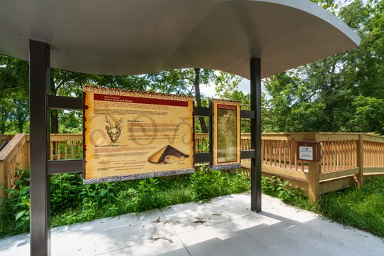 In 2018, partner groups installed a kiosk with cultural interpretive panels written in both English and Cherokee syllabary near Cowee Mound, also in Macon County, along N.C. 28.