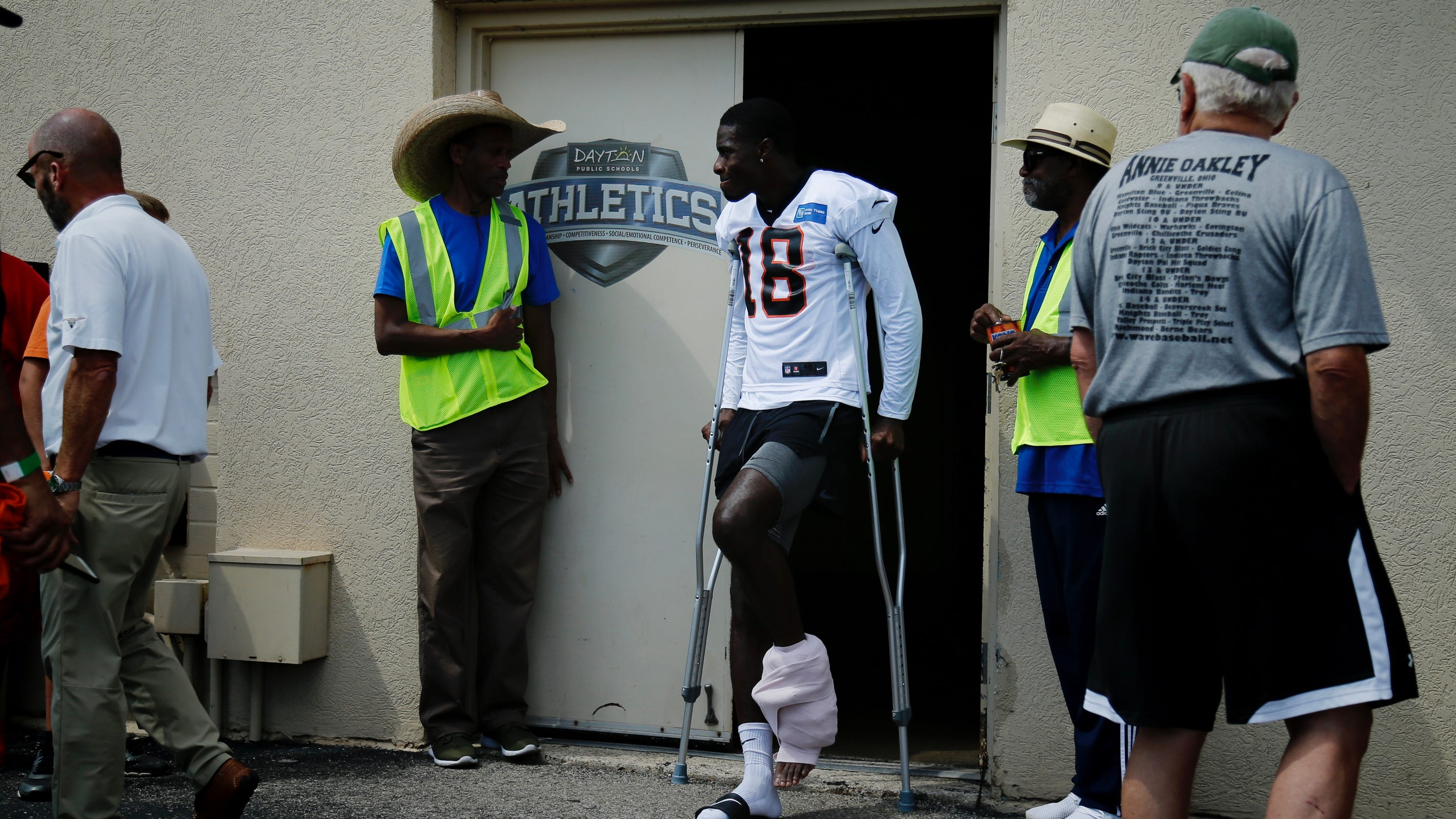 Cincinnati Bengals' A J  Green injured on first day of