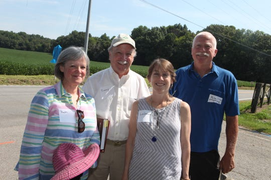 Beth Tanner, Jimmy Killebrew, Lawence Blank-Cook and Mike Silvey at the J.B. Killebrew Historical Marker Dedication on July 26, 2019.
