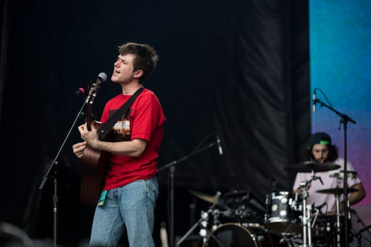 Alec Benjamin performs at the Mo Pop Festival in Detroit's West Riverfront Park on Saturday, July 27, 2019.