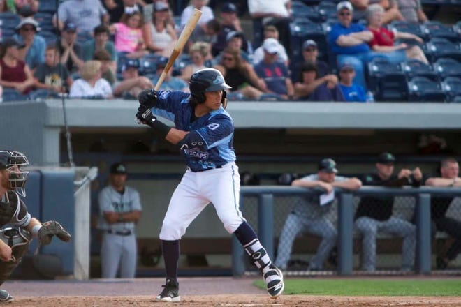 """""""He's got a great temperament, nothing bothers him,"""" Whitecaps manager Lance Parrish says of third baseman Nick Quintana."""