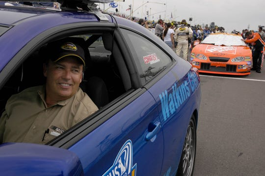 Brett Bodine in the pace car at Watkins Glen International in 2005.