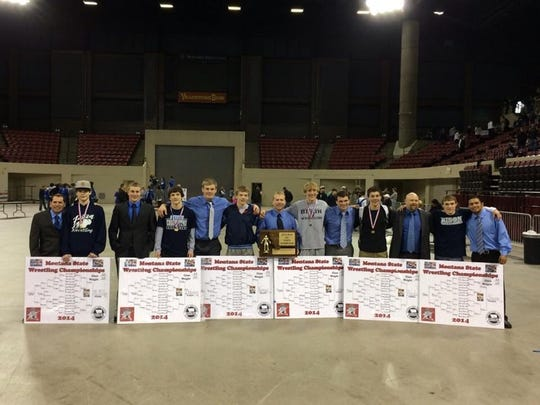 The 2014 Great Falls High wrestling team produced six state individual champions as the Bison won their second of three titles in a row.