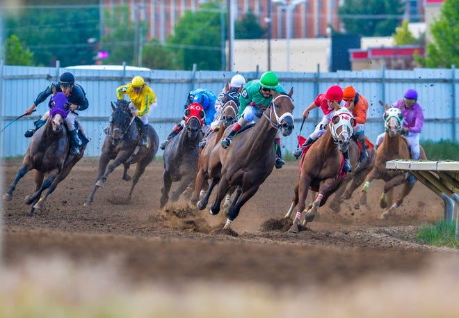 Horse racing during the Montana State Fair in 2019. The Cascade County Commission has OK'd an agreement with the Great Falls Turf Club to run five days of racing at ExpoPark in 2020.