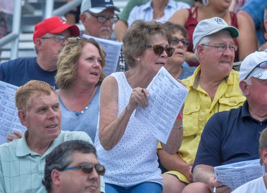 Fans were pumped during horse racing at ExpoPark in 2019. Racing will return in 2020.