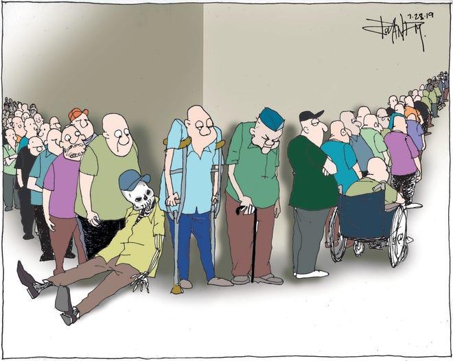 Sunday cartoon on Veterans Affairs.