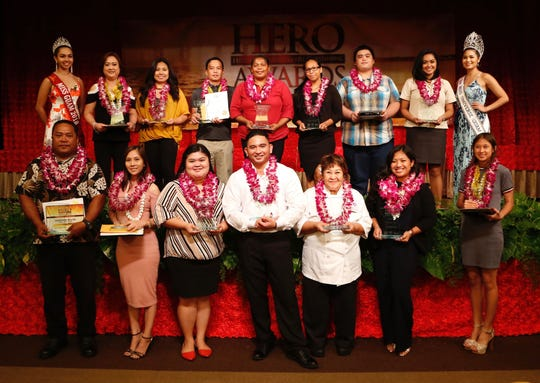 The winners of the 2019 Hospitality Employees aRe Outstanding Awards,