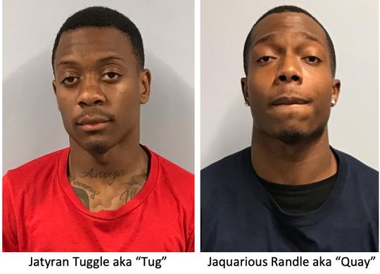 """Jatyran """"Tug"""" Tuggle, left, and Jaquarious """"Quay""""' Randle"""