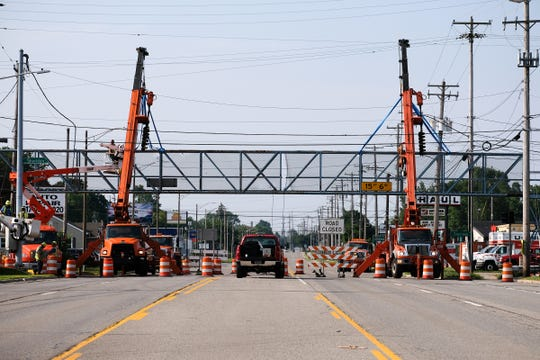 Old N US 27 at Sheridan Road in Lansing is closed in both directions Saturday, July 27, 2019.