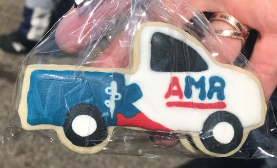 Kathryn Schroeder, the daughter of Gerry Schroeder, made cookies for the AMR crew to express her gratitude.