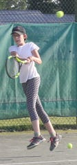 Noel Cline reached the finals in girls 14 and girls 12 in the 86th News Journal/Richland Bank Tennis Tournament at Lakewood Racquet Club