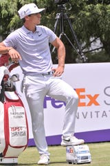 Thorbjorn Olesen on hole No 11 during the third round of the WGC-FedEx St. Jude Invitational at TPC Southwind on July 27, 2019 in Memphis, Tenn.