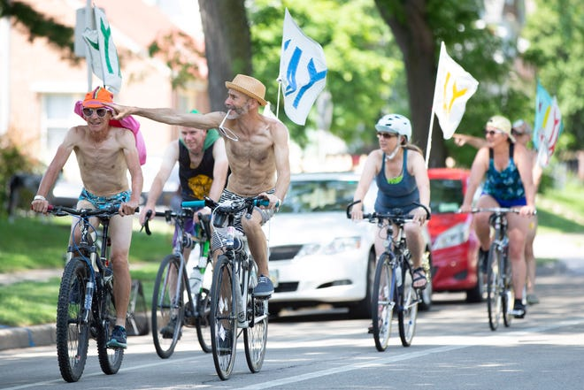 Team Yay bikes south in the 2500 block of North Humboldt Avenue during the Riverwest 24 bike race on Saturday, July 27, 2019.