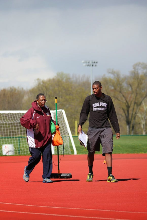 R.J. Graddy and his mother, Sharon Graddy, both volunteered with the Madison youth track and field program.