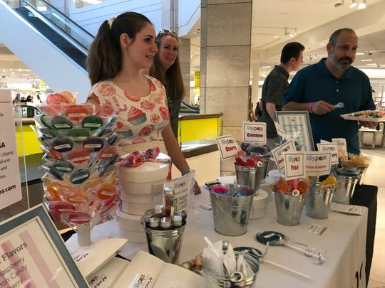 Lilly Trentacosta, founder of Lillypops, at her company's recent pop-up event inside Nordstrom at Westfield Garden State Plaza on Sat., July 20, 2019.