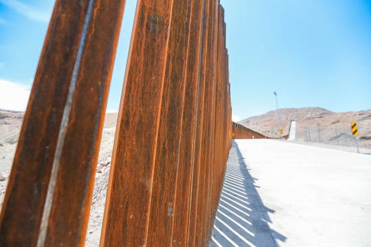 A section of privately-built border wall in Sunland Park, New Mexico. Saturday, July 27, 2019.