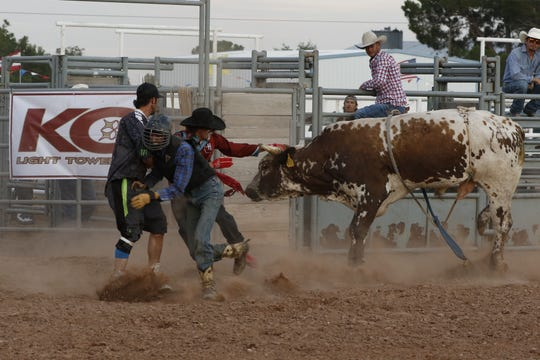 Photos from the bullriding portion of the Eddy County Fair taking place July 26, 2019.