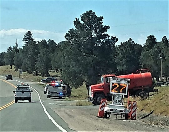 Two speed radar signs were placed on New Mexico Highway 48 in the Alto area.