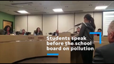 High school students speak to the Phoenix Union High School District school board on the benefits of electric buses on Feb. 2, 2019. (Clips courtesy of Vianey Olivarría)