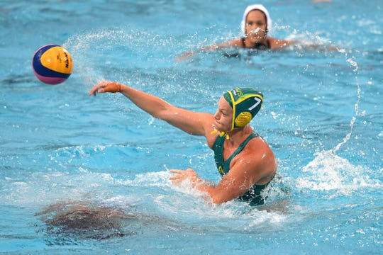 Australian water polo captain Rowie Webster, who competed at Arizona State in 2006, was uninjured in a nightclub collapse Saturday in Gwangju, South Korea, site of the World Aquatic Championships.