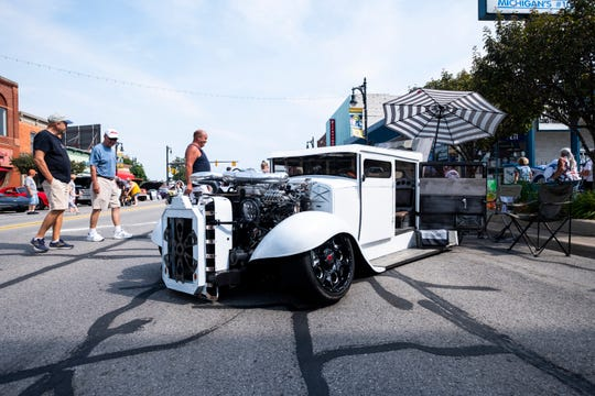 A cusom vehicle from United Automotive is on display during MainStreet Memories Saturday, July 27, 2019, in downtown Port Huron.