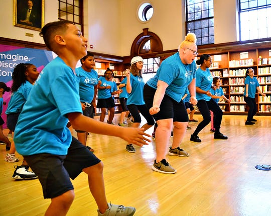 Positive Energy Arts Dance Camp dancers give a final performance following the five week session at Martin Library in York City, Friday, July 26, 2019. Dawn J. Sagert photo