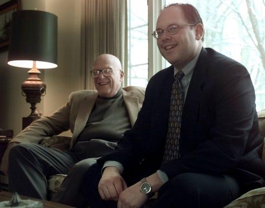 The late Richard Rosenbaum (left) and Matt Rosenbaum (right) photographed at their Penfield home Wednesday, January 10, 2001