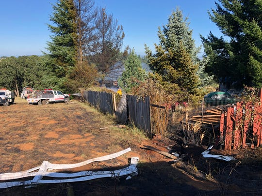 Firefighters controlled a blaze near a Sheridan-area residence on Friday afternoon.