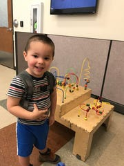 This undated photo provided by the FBI shows 2-year-old Aiden Salcido, who authorities are searching for after his parents were involved in an apparent murder-suicide on Wednesday, July 24, 2019, in Kalispell, Montana. Police had stopped the two following a chase because they had felony burglary warrants for their arrest.