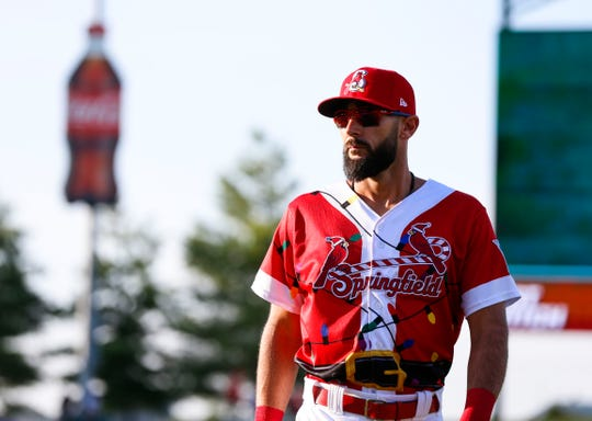 Matt Carpenter made his first rehab start with the Springfield Cardinals at Hammons Field on July 26.