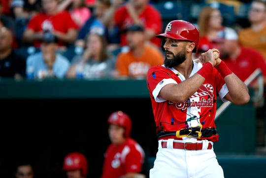 Matt Carpenter made his first rehab start with the Springfield Cardinals at Hammons Field on Friday, July 26, 2019.