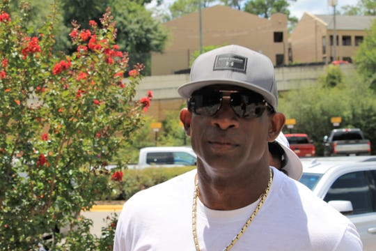 Former FSU cornerback Deion Sanders at Florida State's Saturday Night Live recruiting event