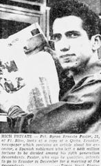 Pvt. Byron Ernesto Pastor is shown in a Nov. 20, 1965, file photo from a front page of the El Paso Times.