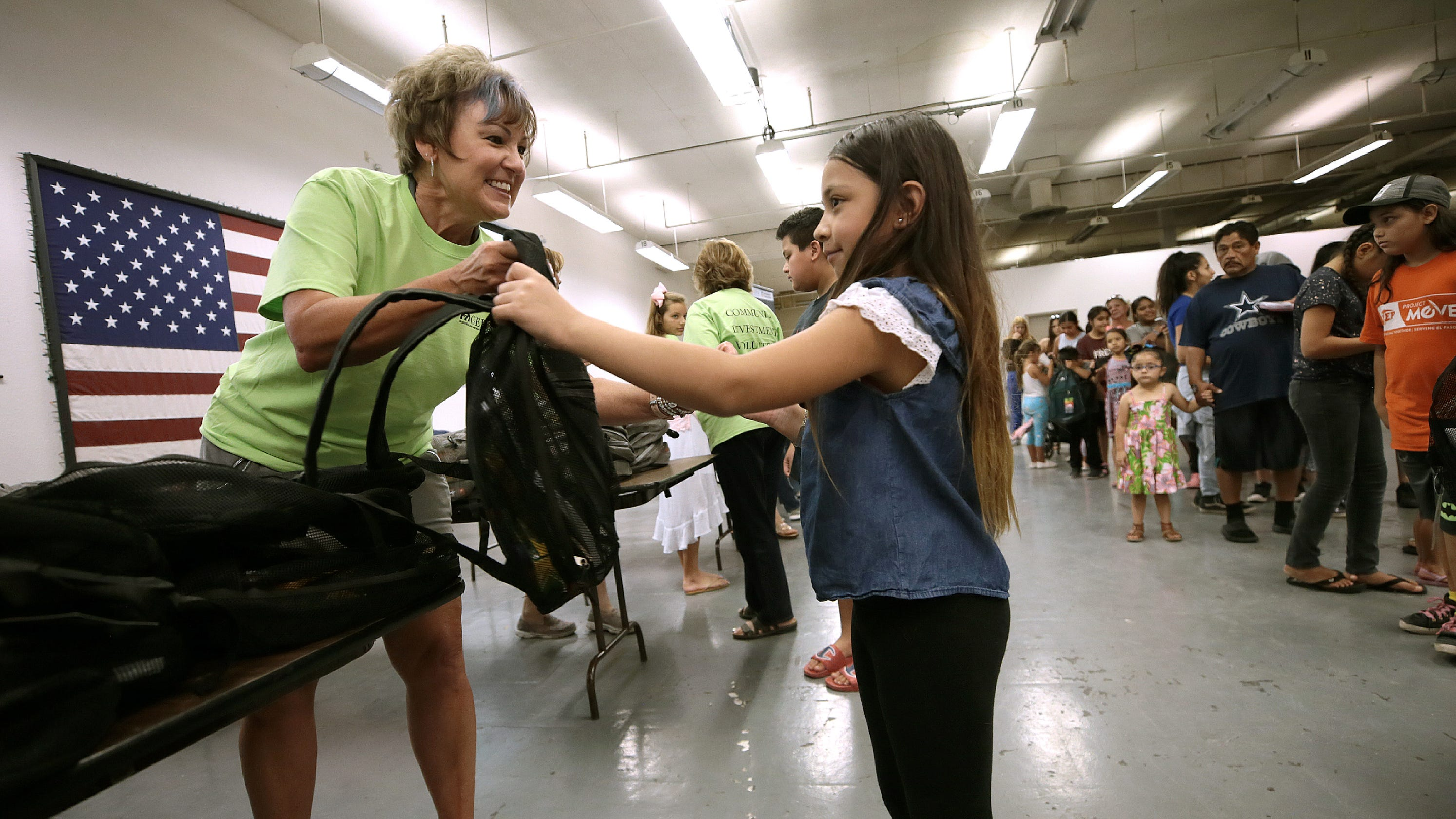 Children in El Paso public housing get free backpacks