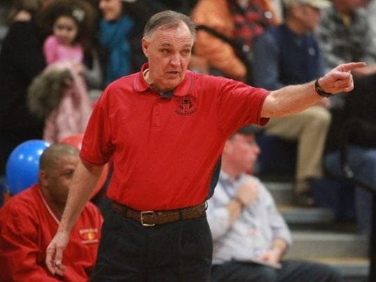 Former Peekskill basketball coach Lou Panzanaro, is pictured here in a Journal News file photo. His son, Bryan, a former assistant coach with the program, died in Seattle on Thursday.