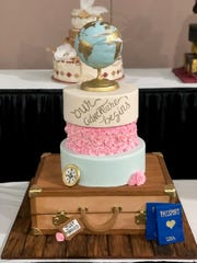 A wedding cake crafted by Victoria Jeker of Sweet Somethings Dessert Shoppe.