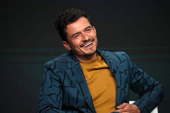 """Orlando Bloom talks about his new Amazon fantasy series, """"Carnival Row,"""" during the Television Critics Association summer press tour."""
